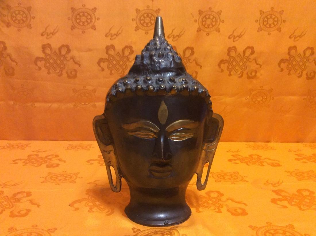 Buddha Head Sculpture.