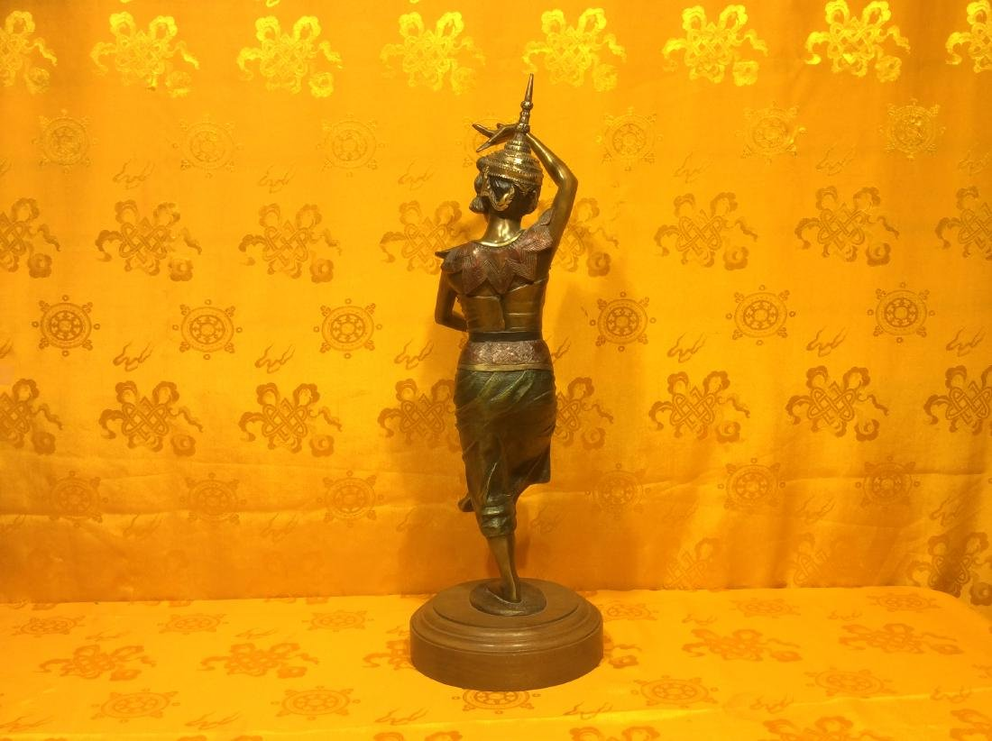 Vintage Thai Dancer Statue. - 3