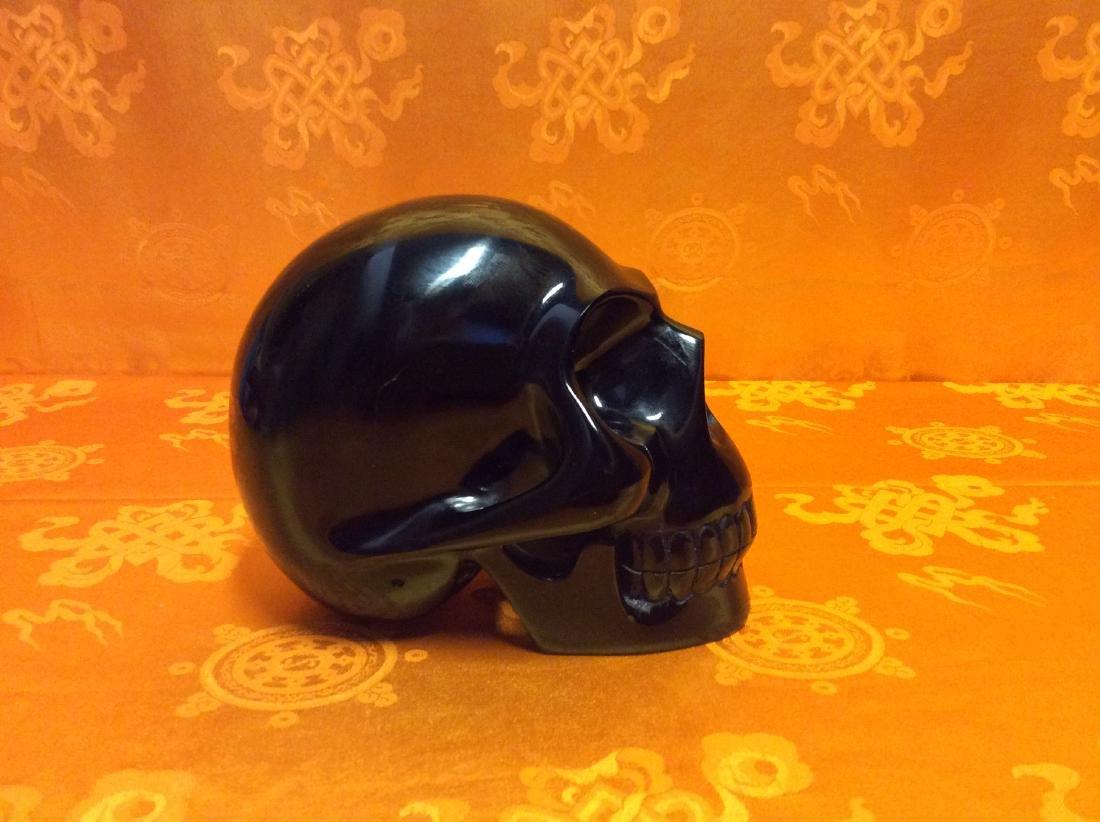 Giant Obsidian Skull. - 2