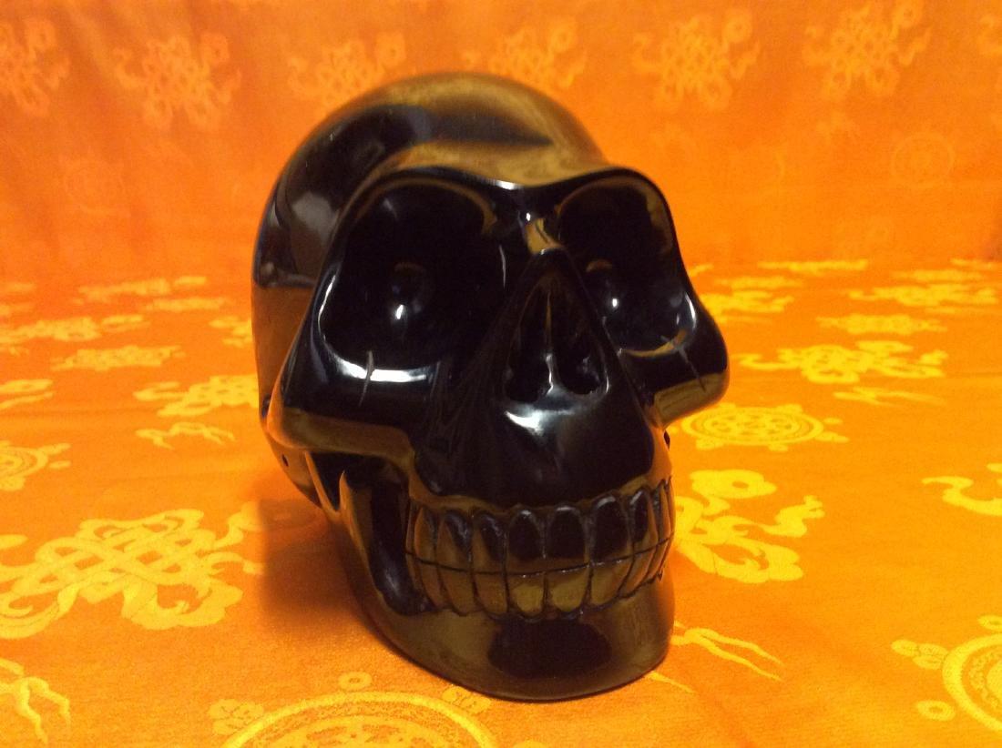Giant Obsidian Skull. - 3