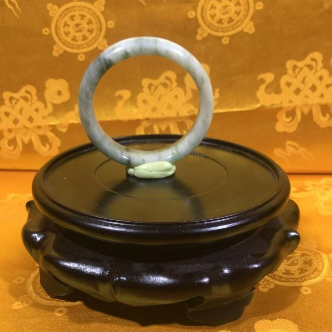 Large Chinese Natural Jade Bangle.