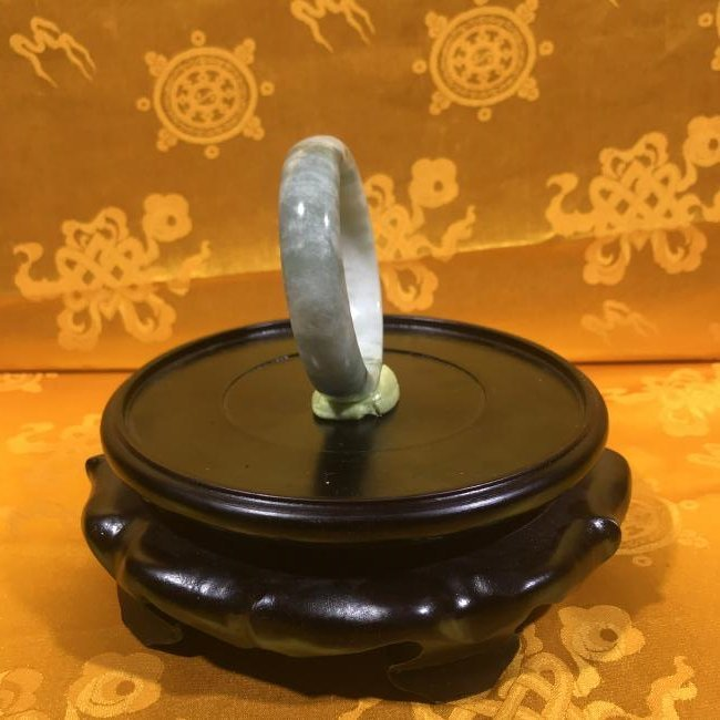 Large Chinese Natural Jade Bangle. - 2