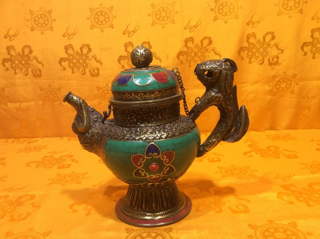 Tibetan Brass Tea Pot.