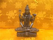 Statue of Lord Shiva, made with oxidised copper with