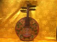 Antique Tibetan Musical Instrument, made with solid
