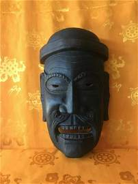 Antique Tibetan Mask, made in Tibet in early 1950s.