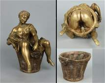 Amazing erotic 19C French Bronze top quality