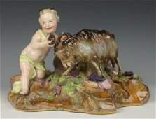 Meissen Kaendler figurine A96 Faun with Goat