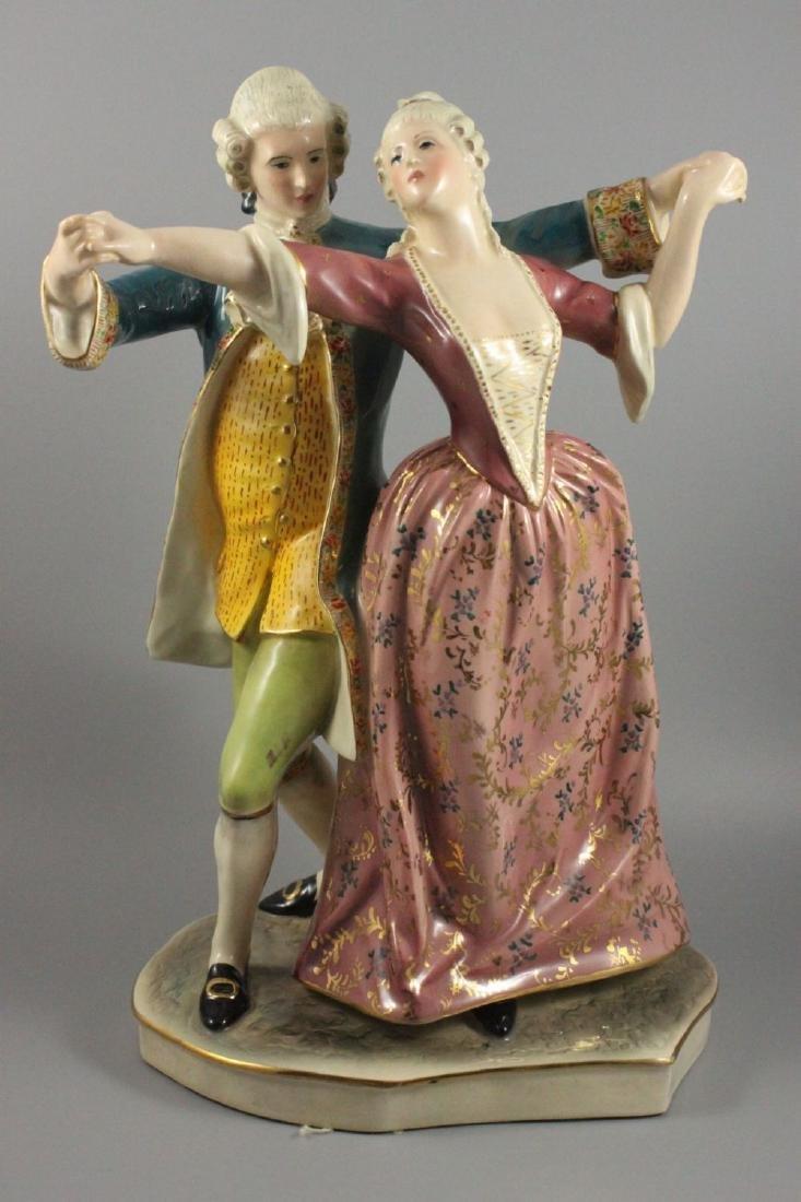 """Capodimonte Eugenio Pattarino Figurine """"Dancing Couple"""""""