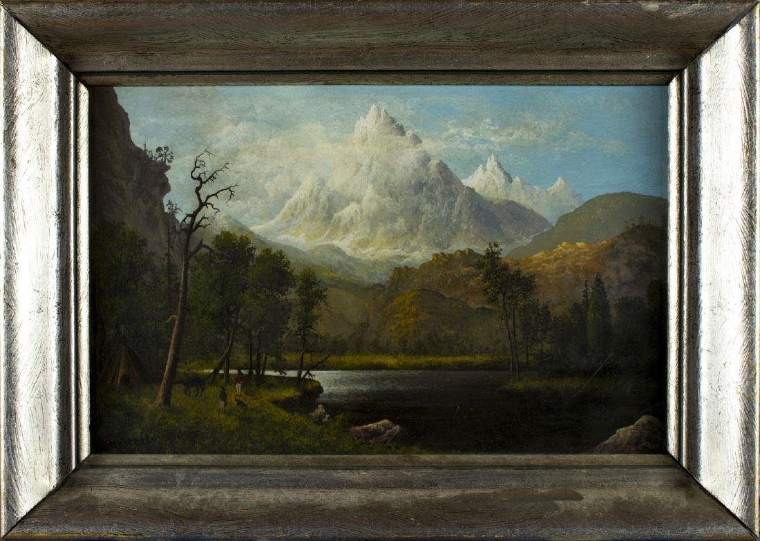Albert Bierstadt (american, 1830 - 1902) oil on board