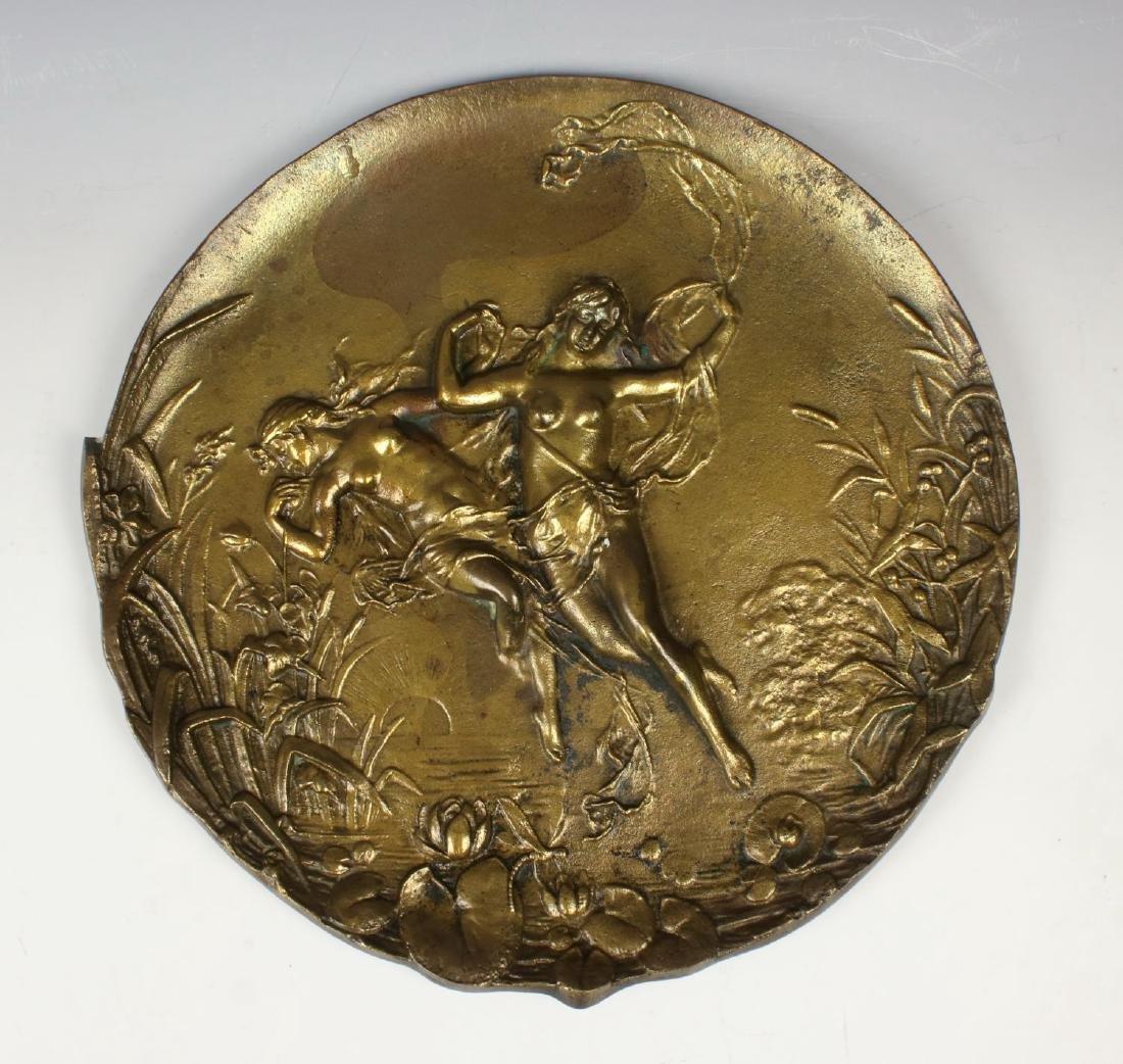 French Bronze Art Nouveau Tray