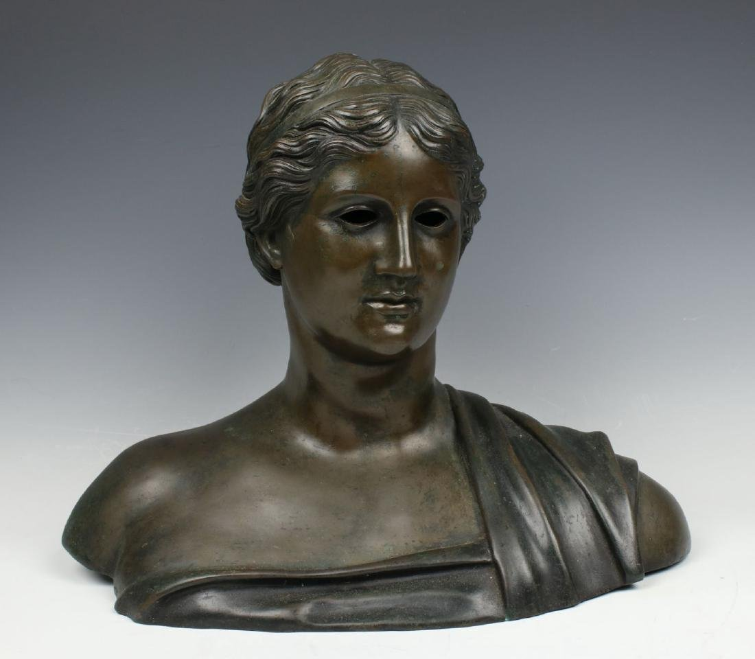 """French Bronze """"Bust of Woman"""""""