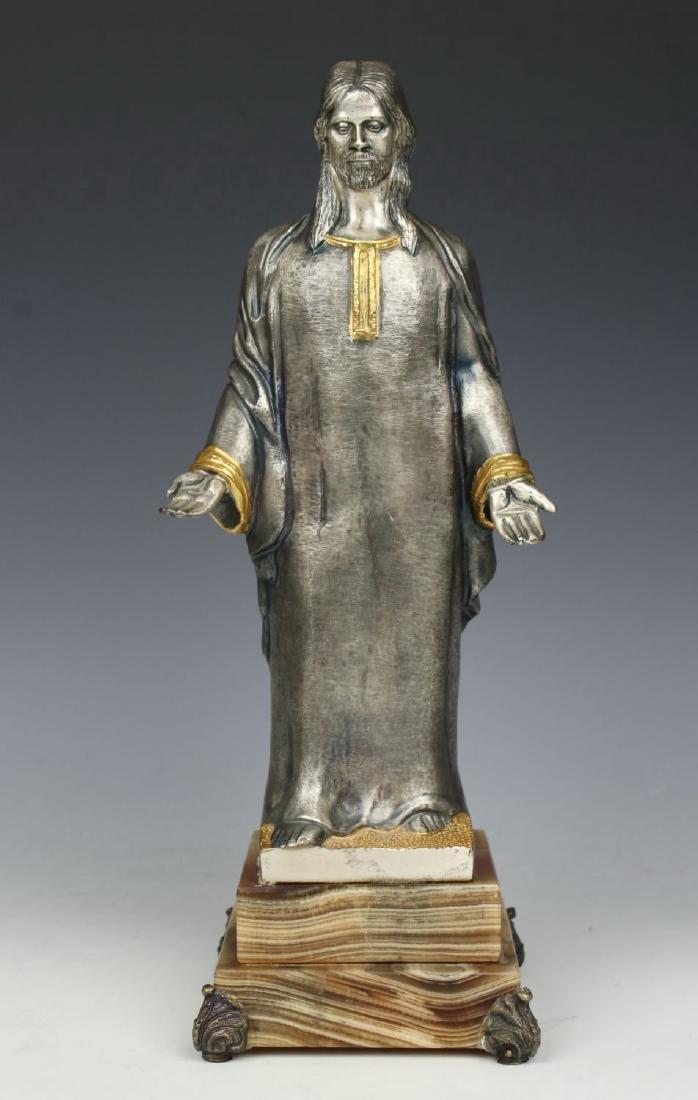 "Giuseppe Vasari Bronze & 22K Gold figurine ""Jesus"""