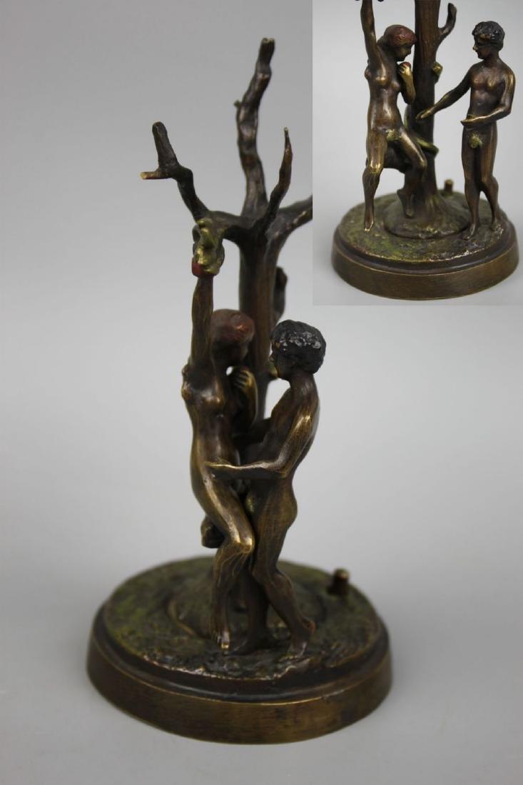 "Franz Bergman mechanical erotic Bronze ""Adam & Eva"""