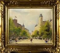 Antal Berkes (Hungary, 1874 - 1938) oil on canvas