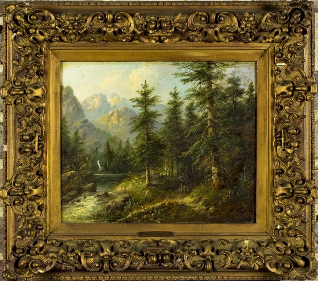 Eduard Boehm (Austria,US,1830-1890) oil on board