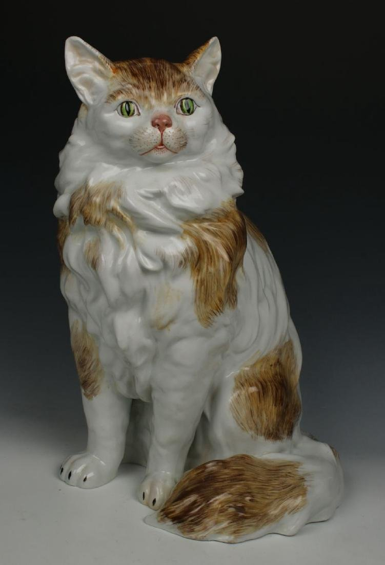 "Large 13"" Potschappel Carl Thieme figurine ""Sitting"