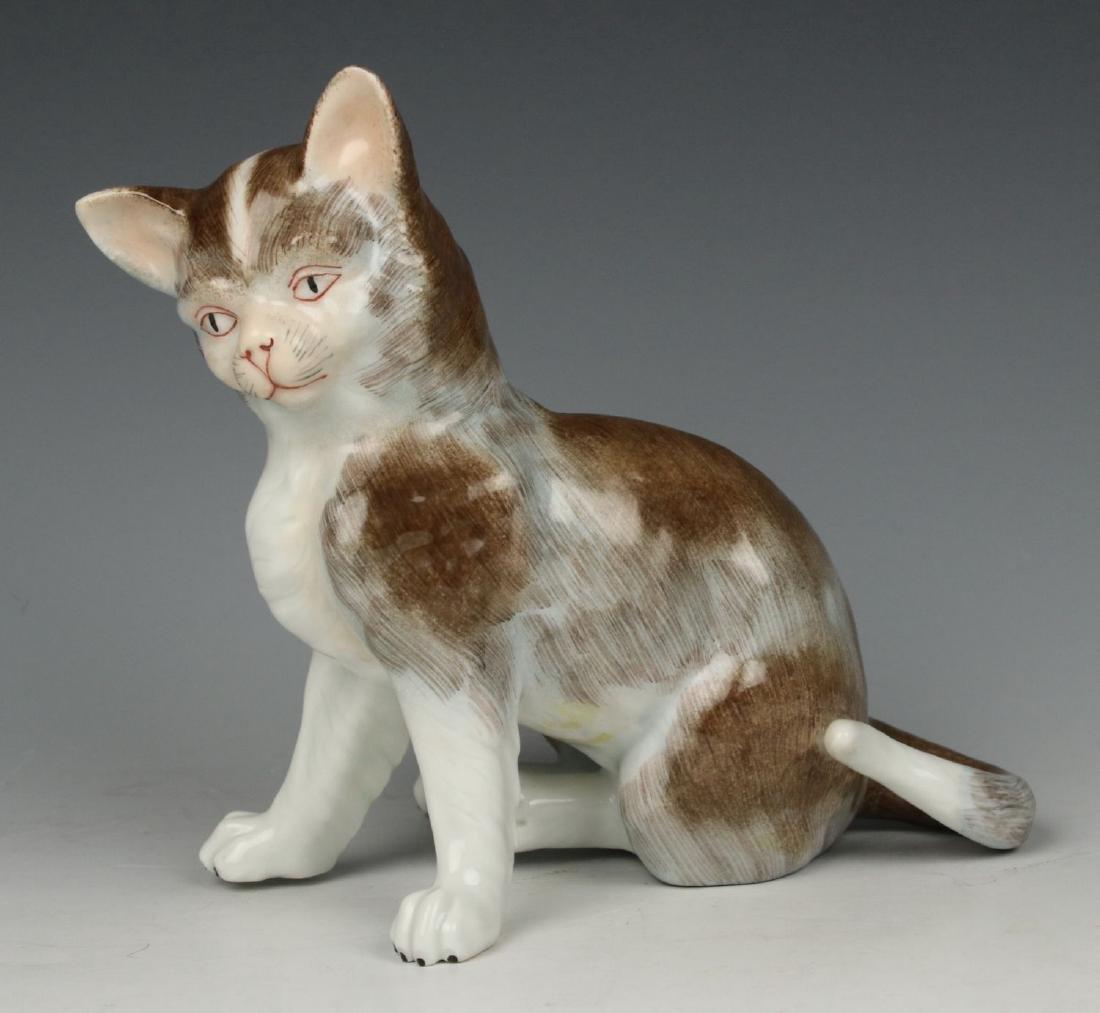 "Potschappel Carl Thieme figurine ""Sitting Cat"""