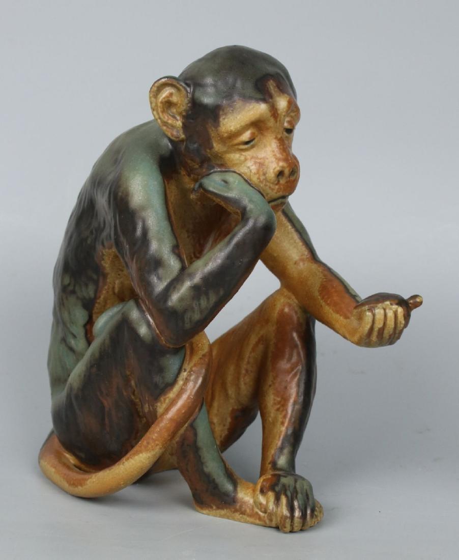 "Bing and Grondahl Dahl Jensen Figurine ""Monkey Looking"