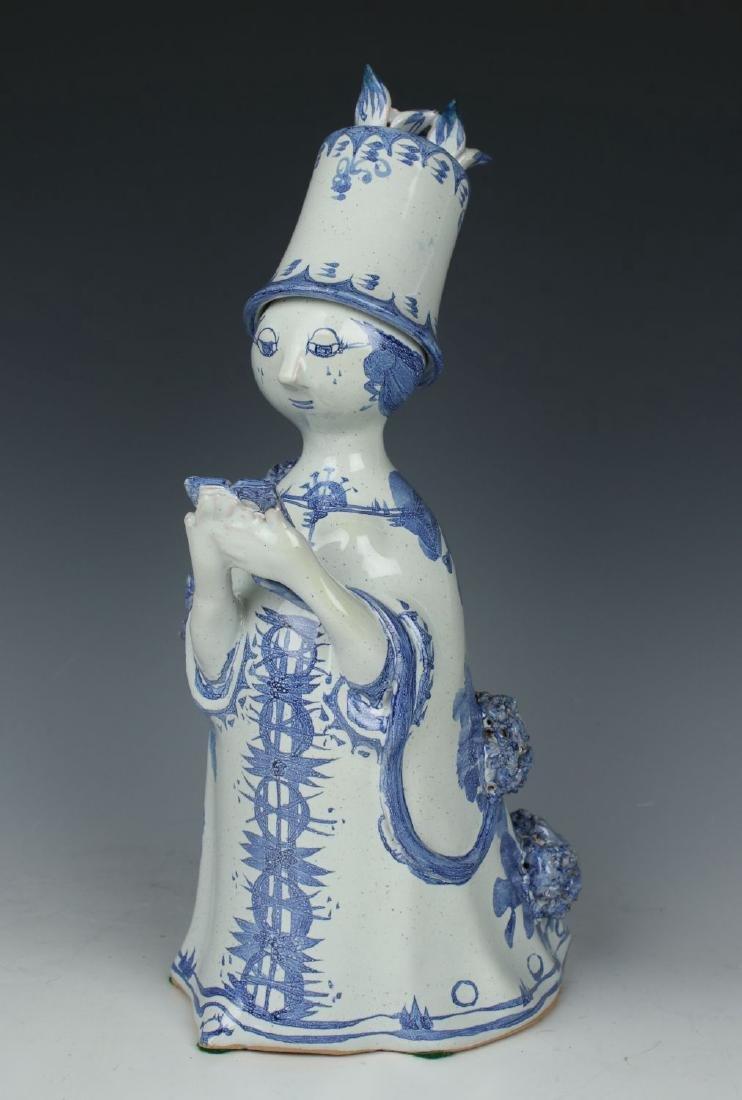 """Bjorn Wiinblad figurine M13 """"Aunt Ella Reading"""""""