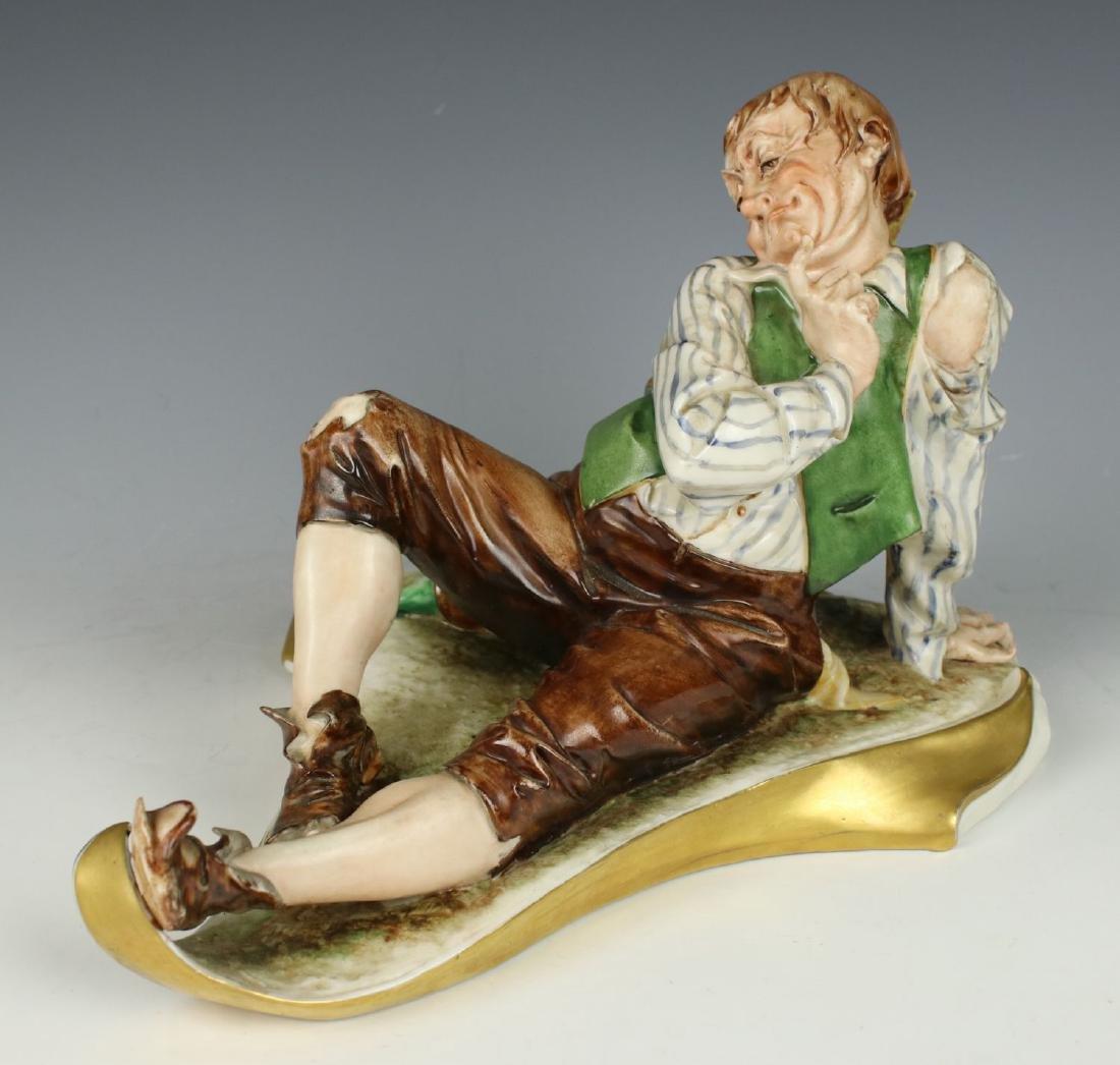 """Capodimonte Figurine """"Drunken Man"""""""