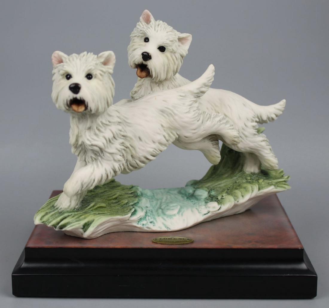 "Giuseppe Armani Figurine Dogs ""Westies"""