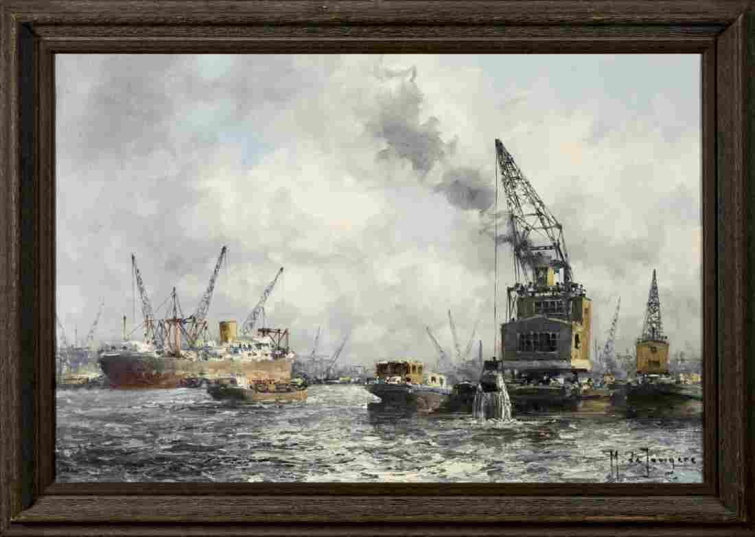 Marinus Johannes de Jongere (Netherlands,1912-1978) oil