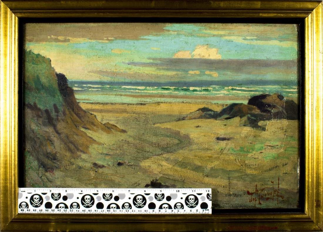 Joseph Knowles (american,1869-1942) oil on board - 2