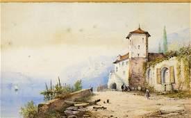 Thomas Miles Richardson Jr (UK, 1813-1890) watercolor