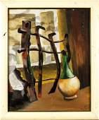 Jack Frankfurter (New York,born 1929) oil on board