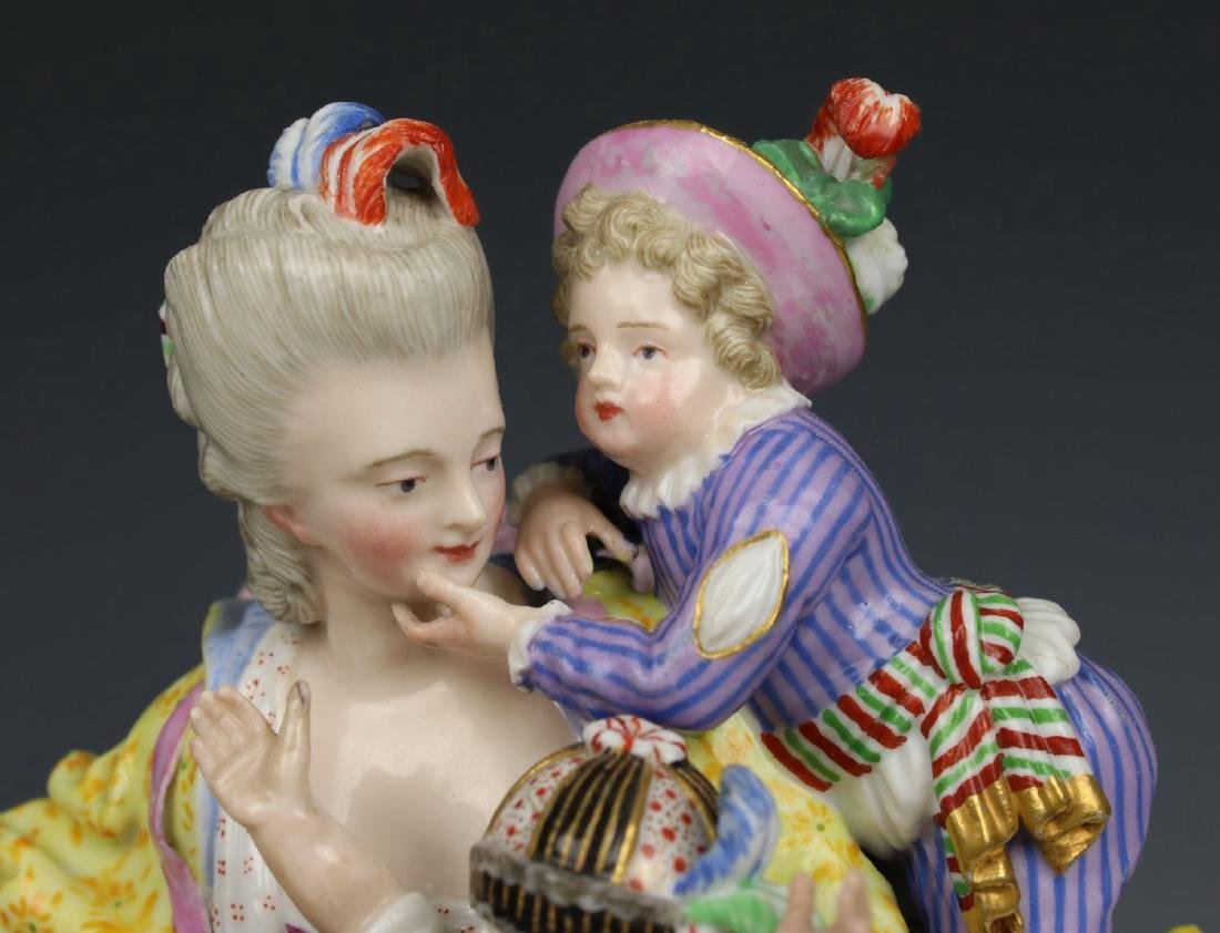 "Meissen Acier figurine E69 ""Good Mother"" - 5"