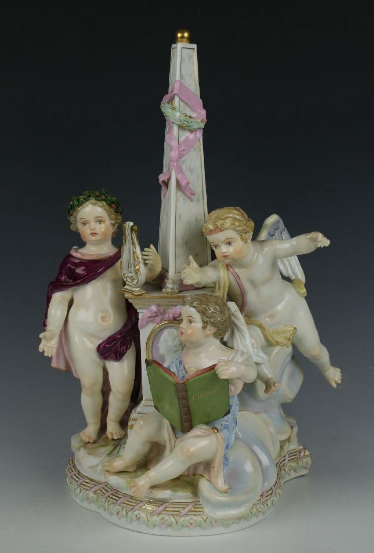 "Meissen Acier Figurine ""Allegory of Poetry"""