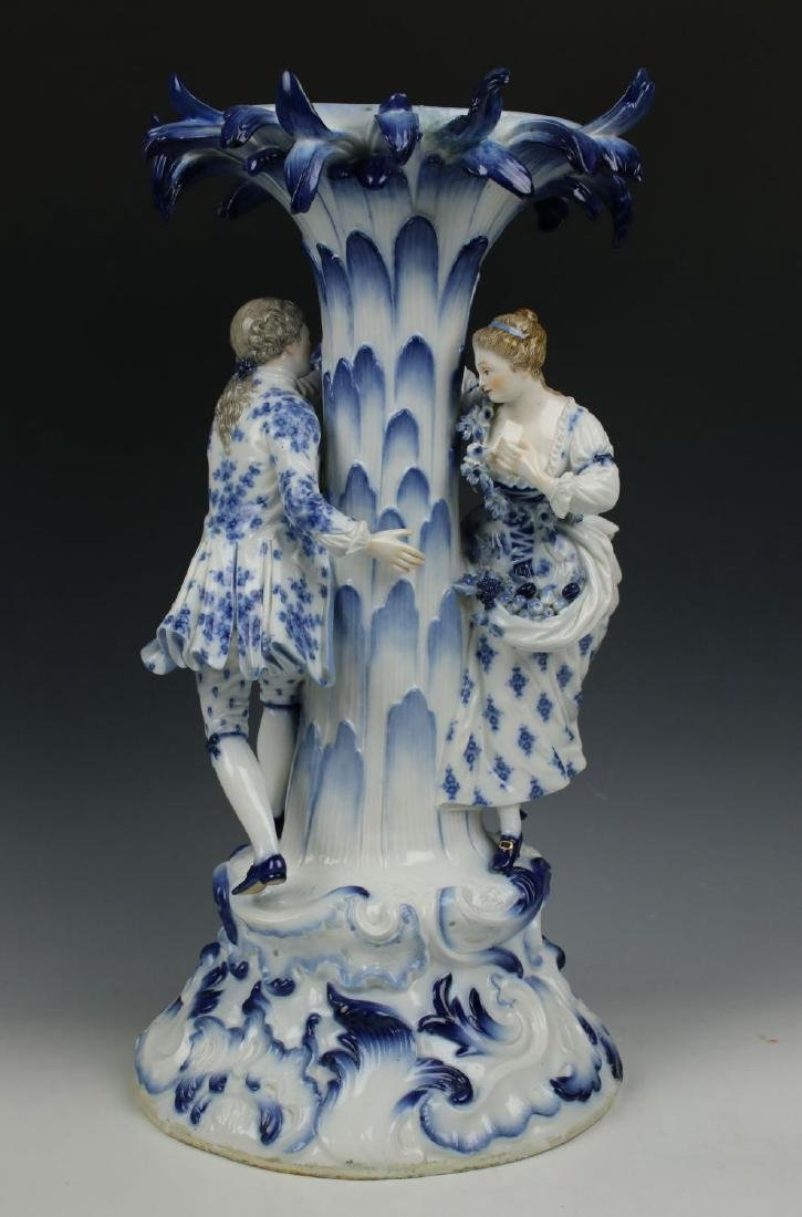 "Meissen Figurine 2772 ""Centerpiece with Man and Woman"""
