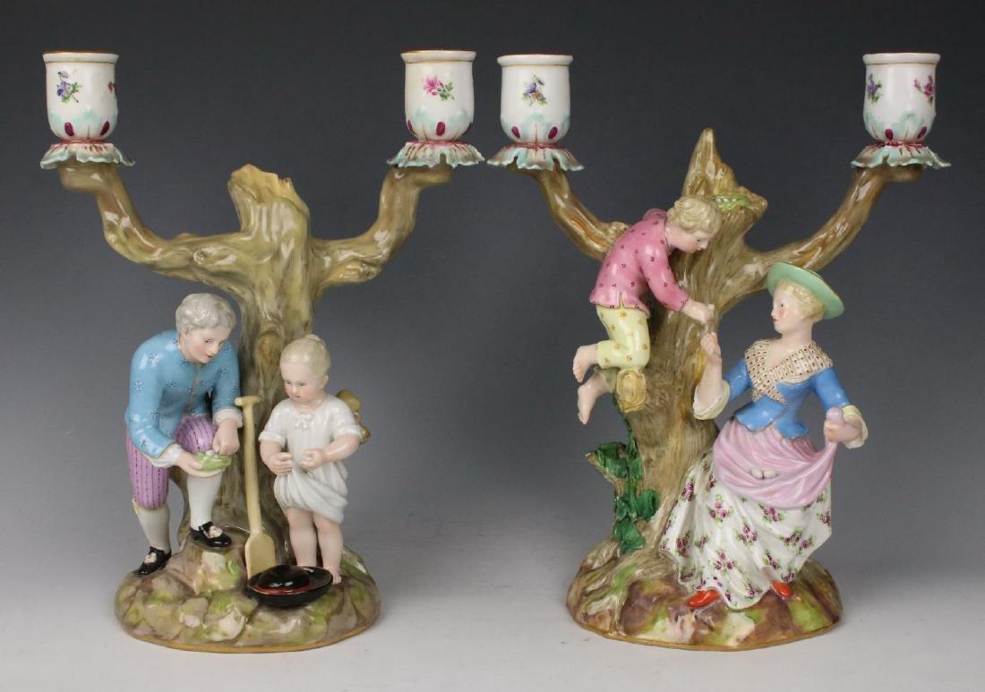 """Meissen pair of figurines 1153 & 1160 """"Egg Pickers"""""""
