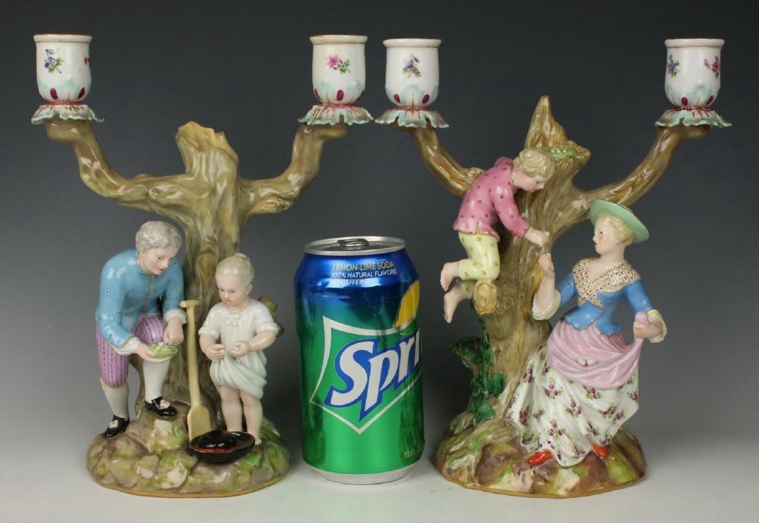 """Meissen pair of figurines 1153 & 1160 """"Egg Pickers"""" - 2"""