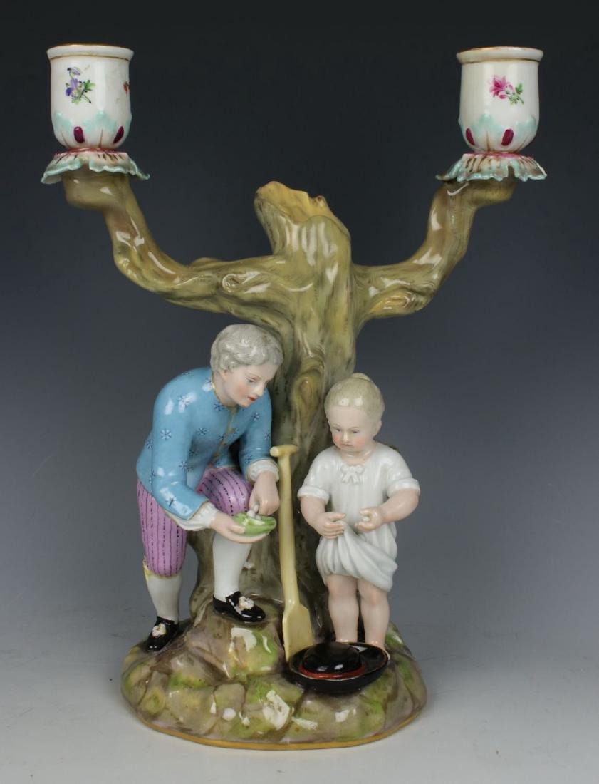 """Meissen pair of figurines 1153 & 1160 """"Egg Pickers"""" - 7"""