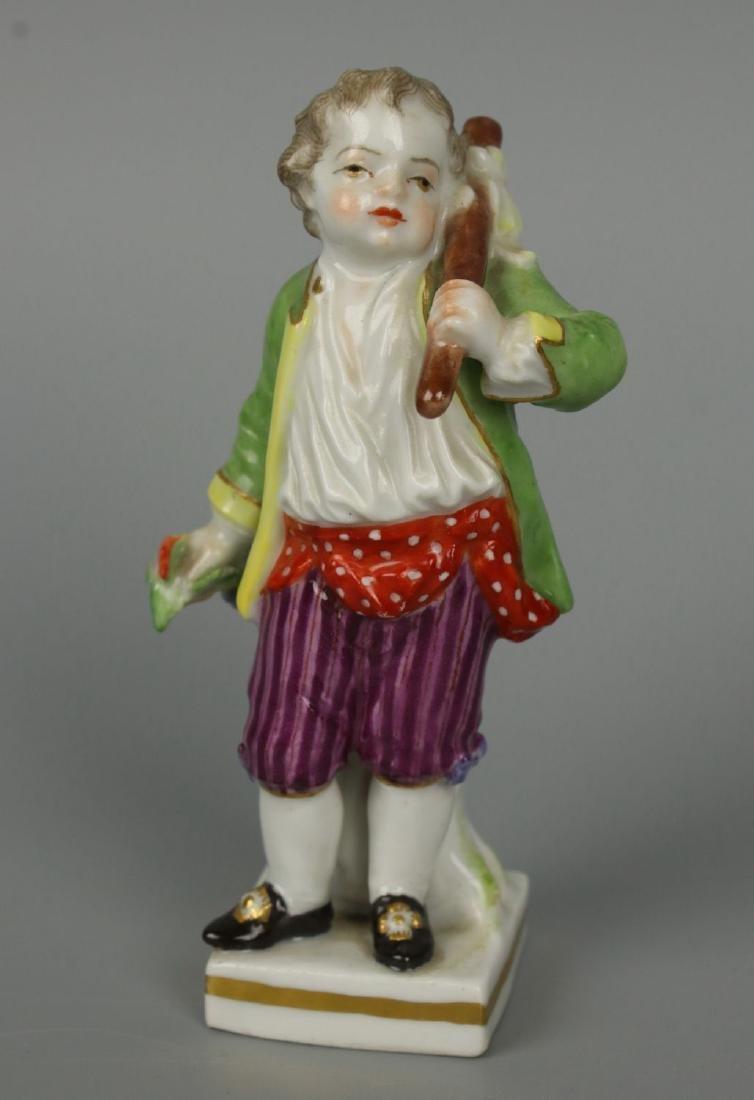 """Meissen Acier Figurine G7 Garden Children """"Boy Holding"""