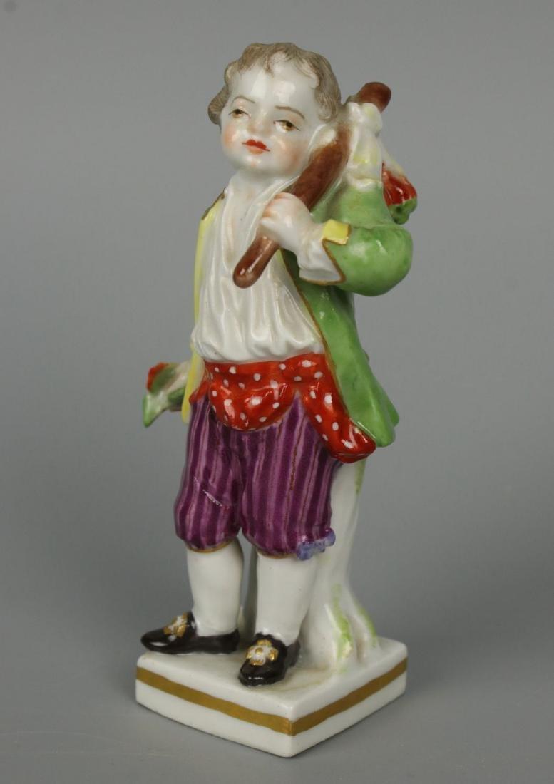 """Meissen Acier Figurine G7 Garden Children """"Boy Holding - 2"""