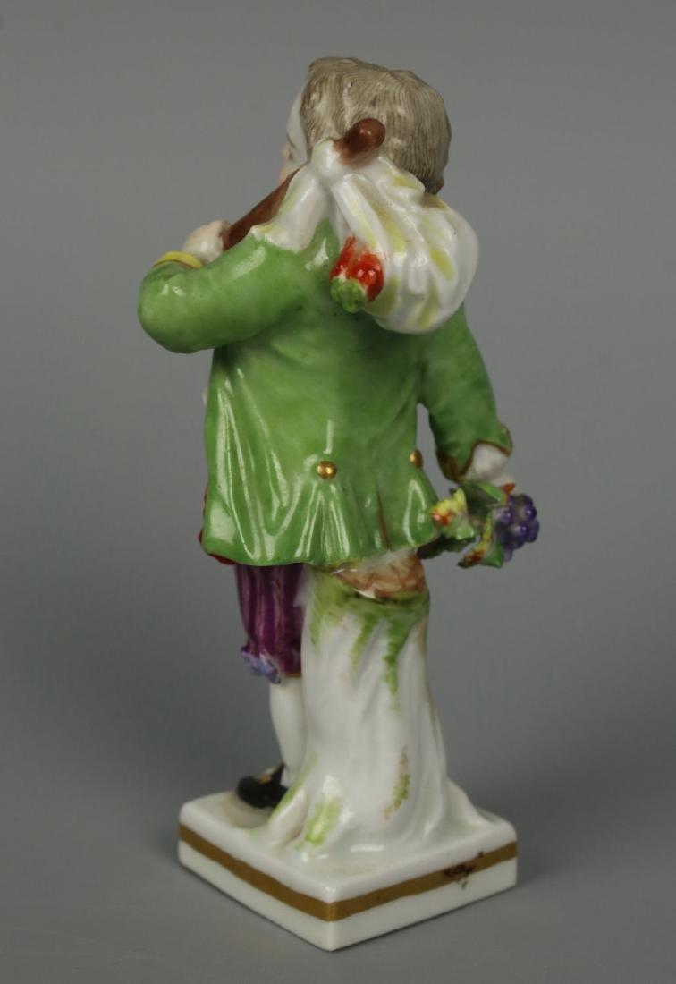 """Meissen Acier Figurine G7 Garden Children """"Boy Holding - 3"""