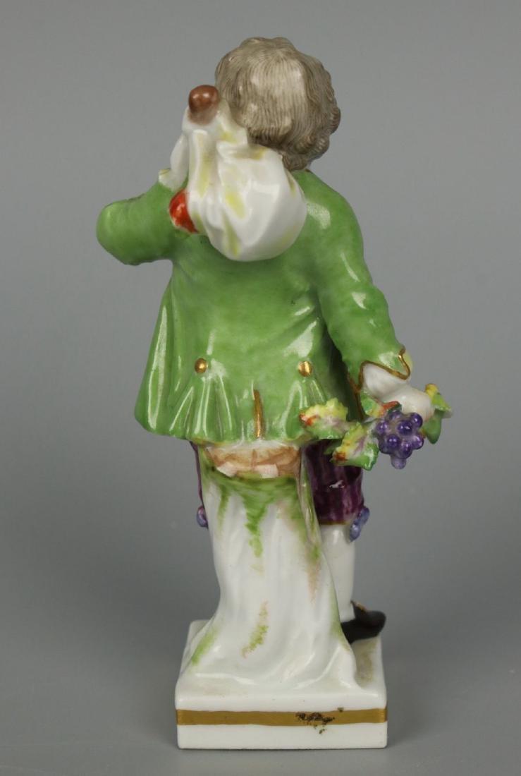 """Meissen Acier Figurine G7 Garden Children """"Boy Holding - 4"""