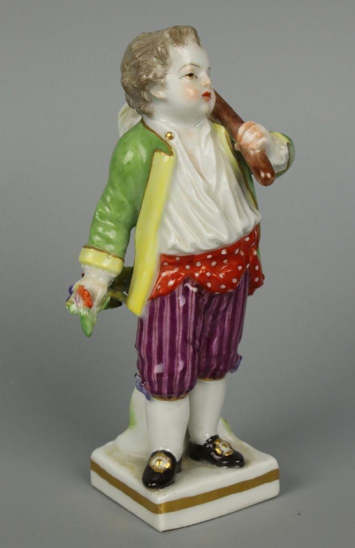 """Meissen Acier Figurine G7 Garden Children """"Boy Holding - 5"""