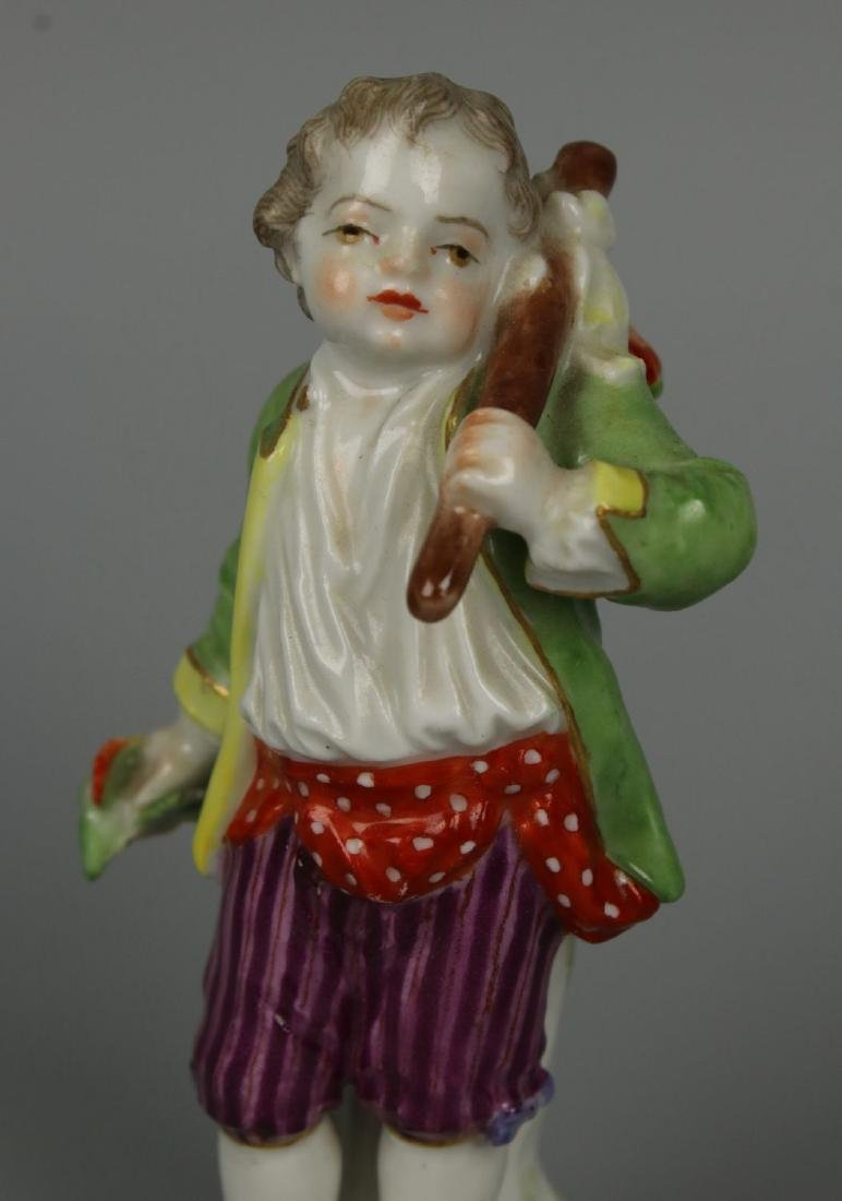 """Meissen Acier Figurine G7 Garden Children """"Boy Holding - 6"""