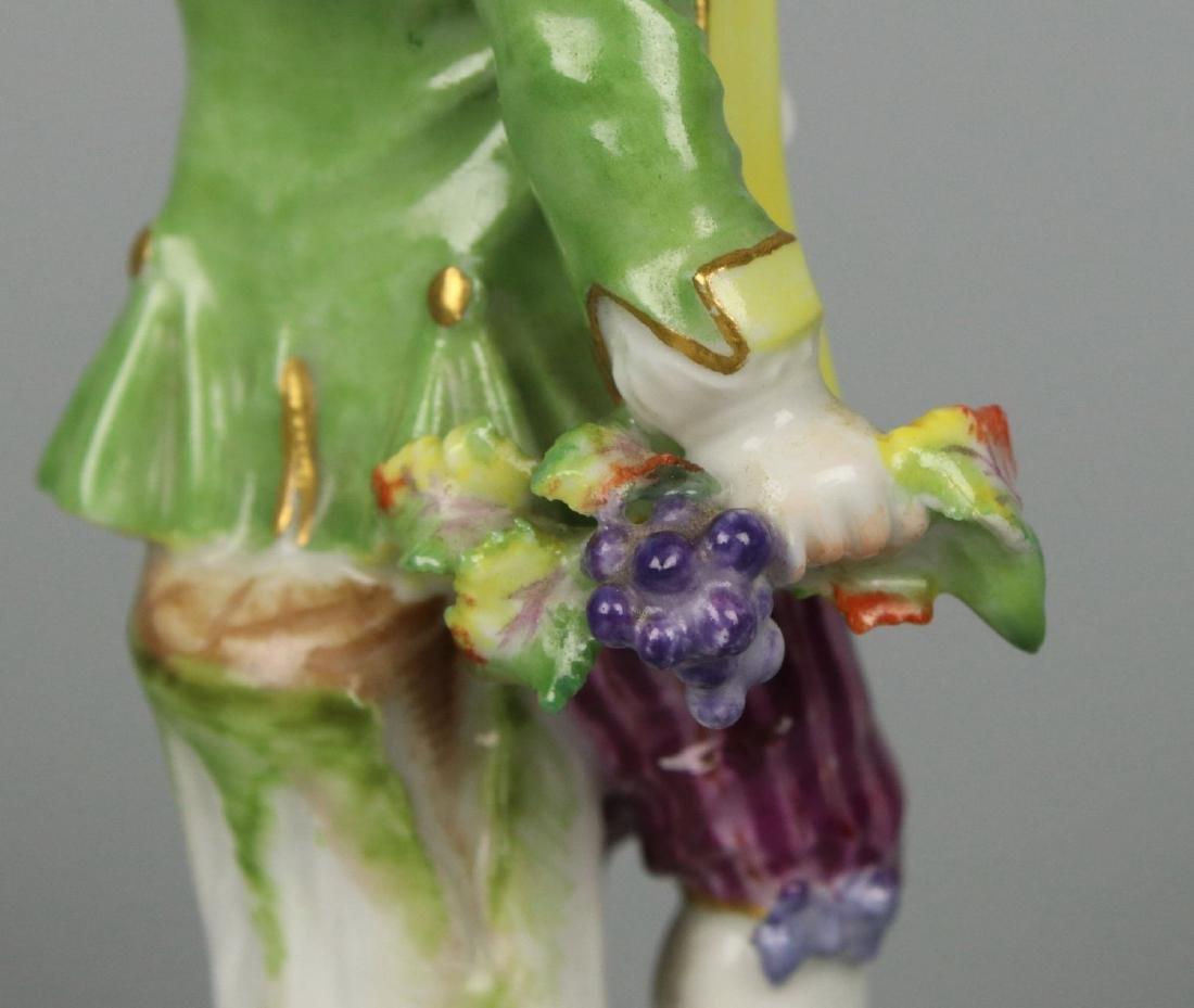 """Meissen Acier Figurine G7 Garden Children """"Boy Holding - 9"""