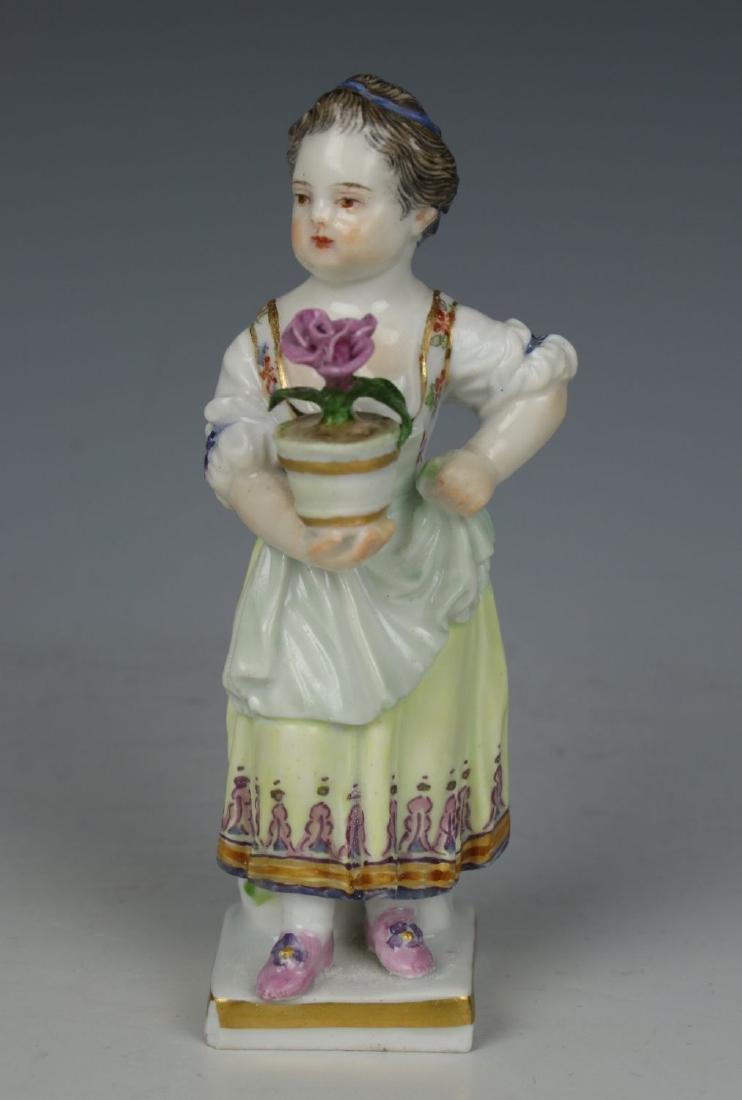 """Meissen Acier Figurine G1 """"Girl with Flower Pot"""""""
