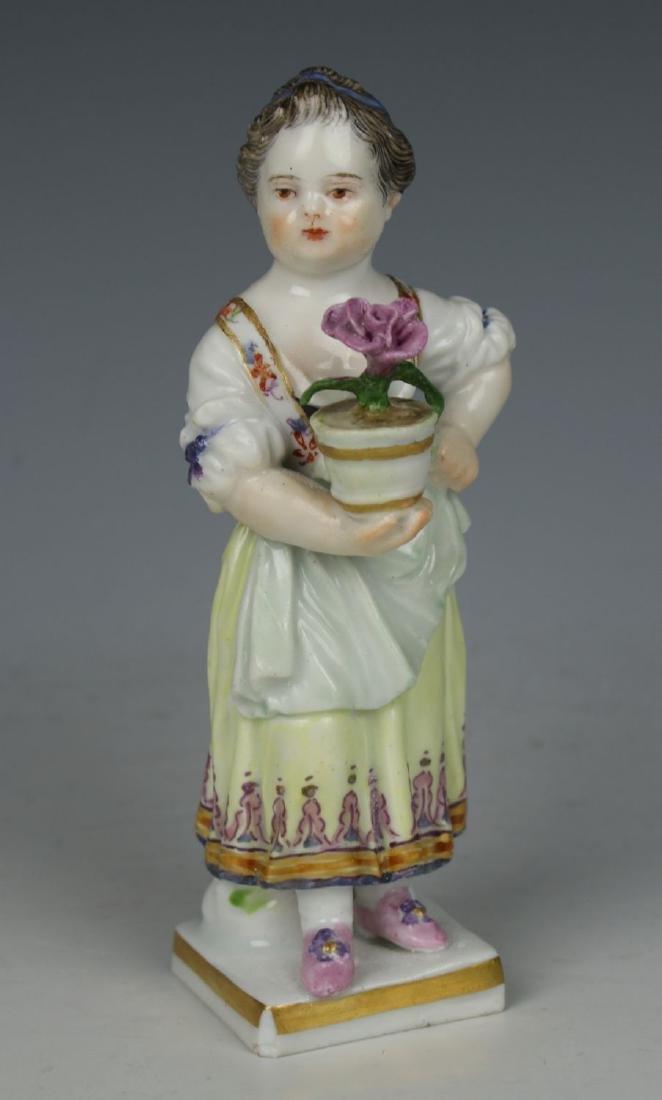 """Meissen Acier Figurine G1 """"Girl with Flower Pot"""" - 2"""