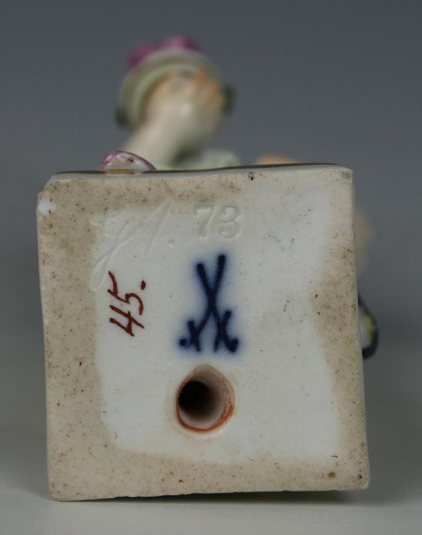 """Meissen Acier Figurine G1 """"Girl with Flower Pot"""" - 8"""