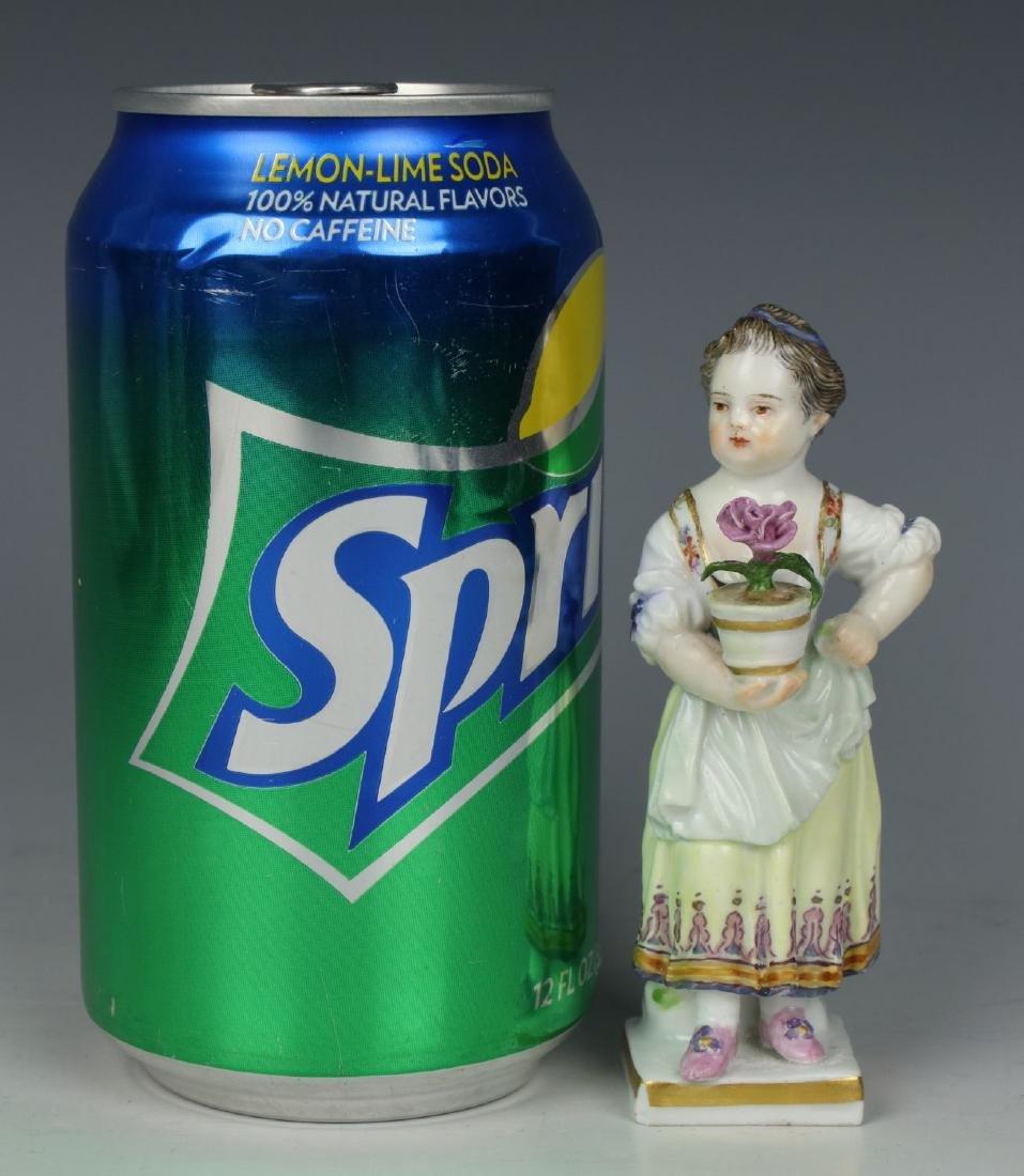 """Meissen Acier Figurine G1 """"Girl with Flower Pot"""" - 9"""
