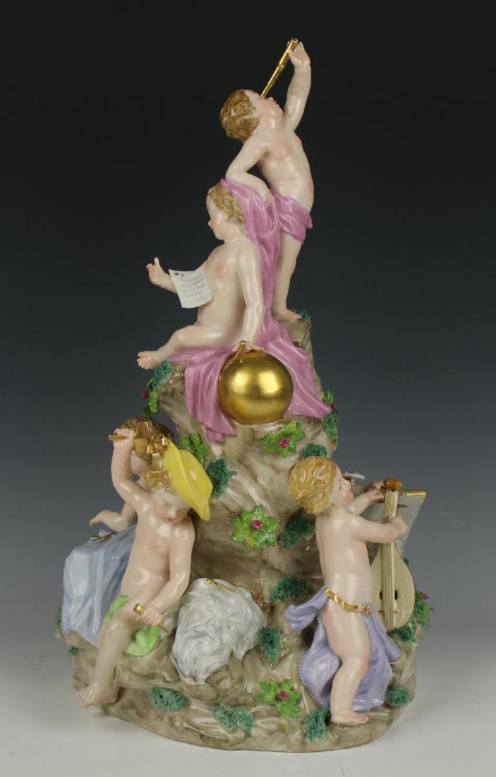 "Antique large 14"" Nymphenburg figurine ""Six Arts"""