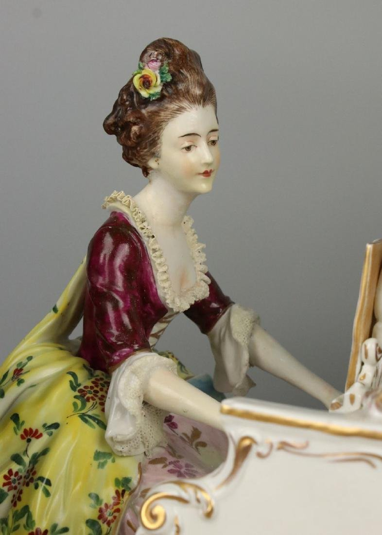 "Large 19"" Dresden Volkstedt figurine ""Musical Trio"" - 6"