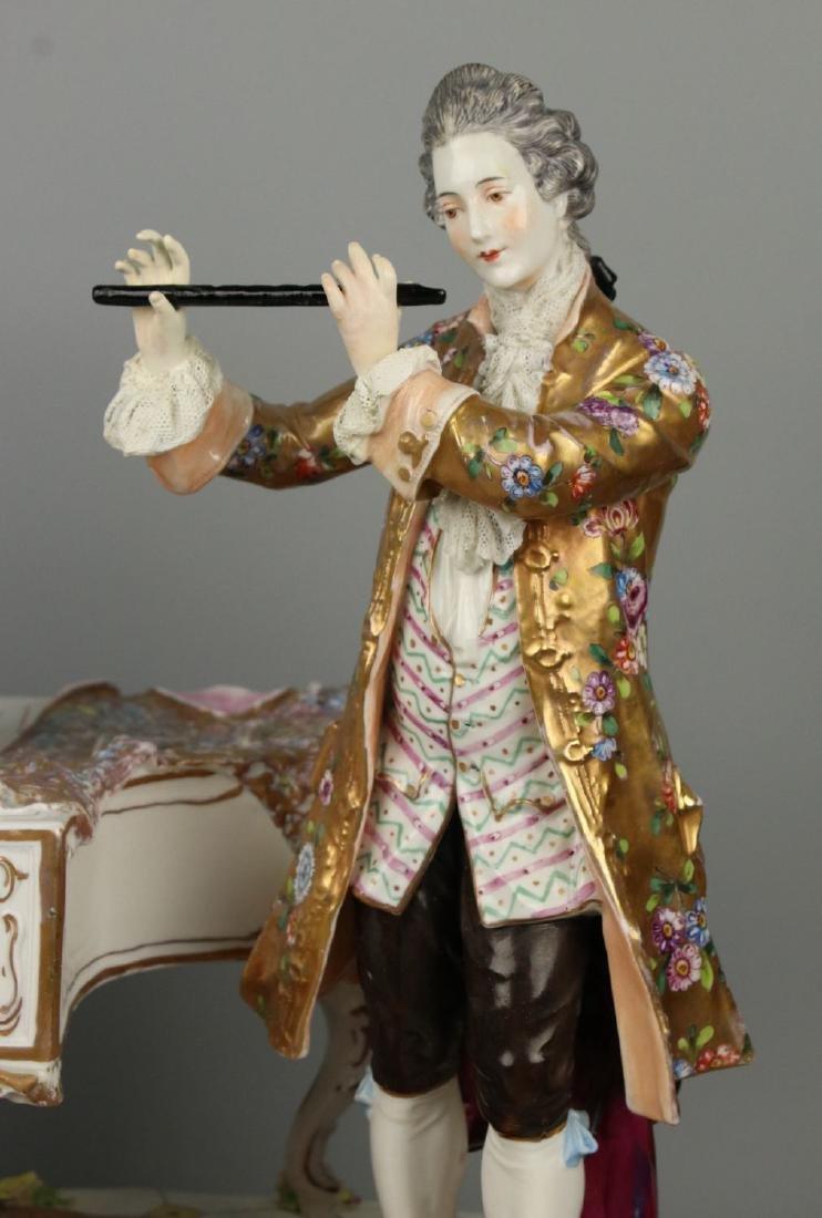 "Large 19"" Dresden Volkstedt figurine ""Musical Trio"" - 8"